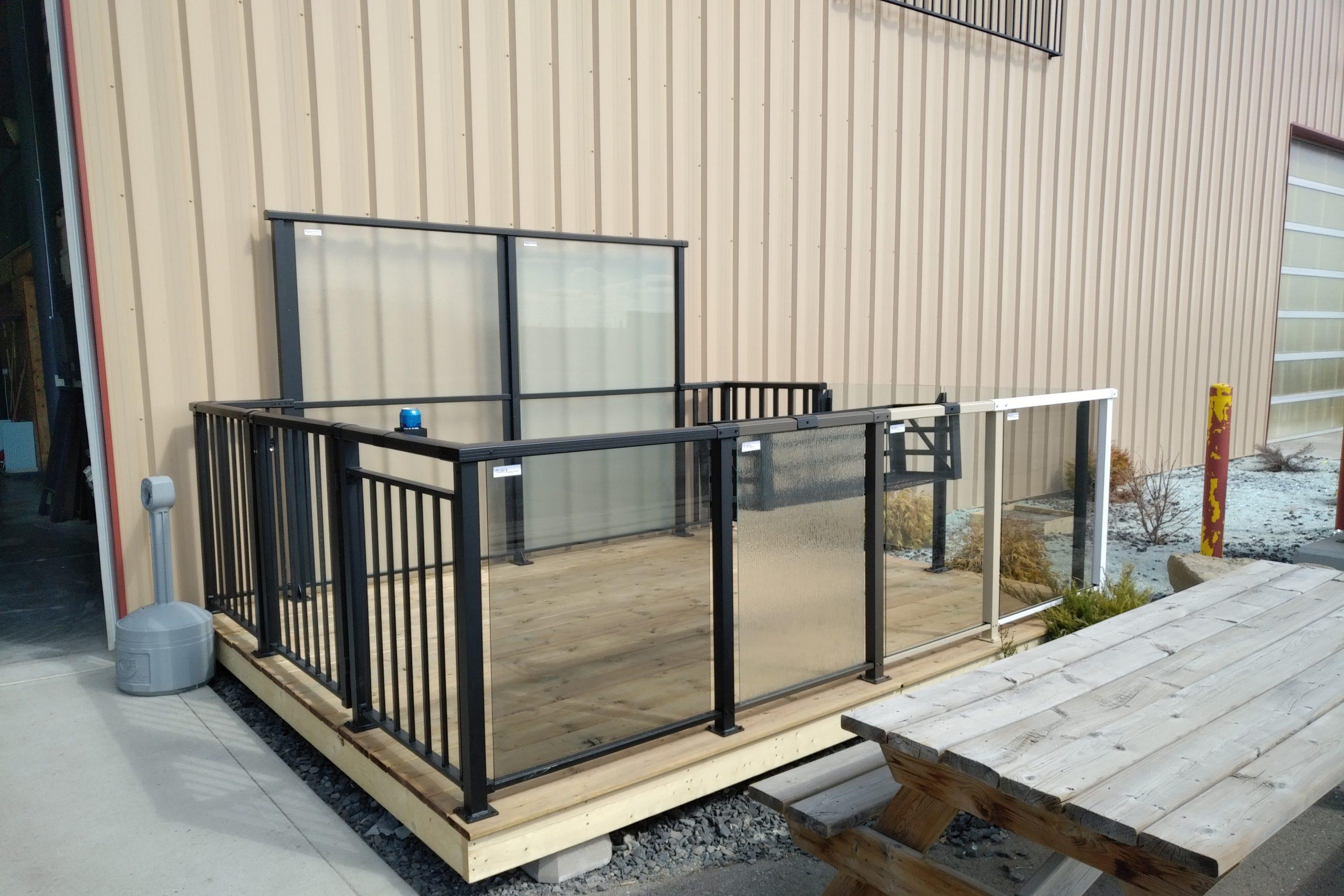 Image of: Metal Deck Railings Most Durable Option Mclean Railings