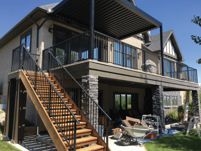 McLean Railings – products – aluminum stair railing