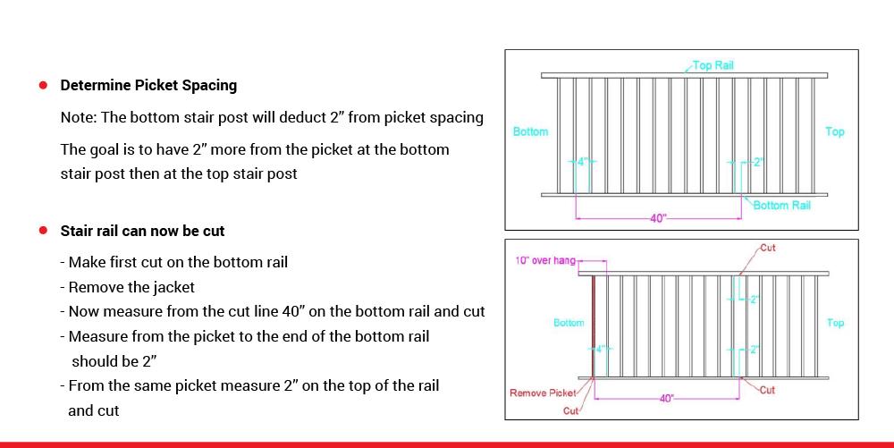 McLean Railings – how to assemble stair railing – 3