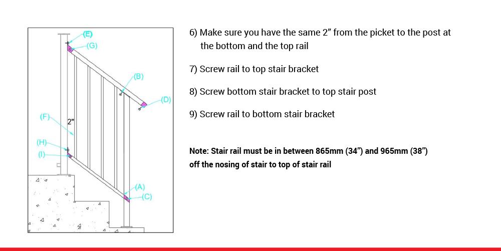 McLean Railings – how to assemble stair railing – 5