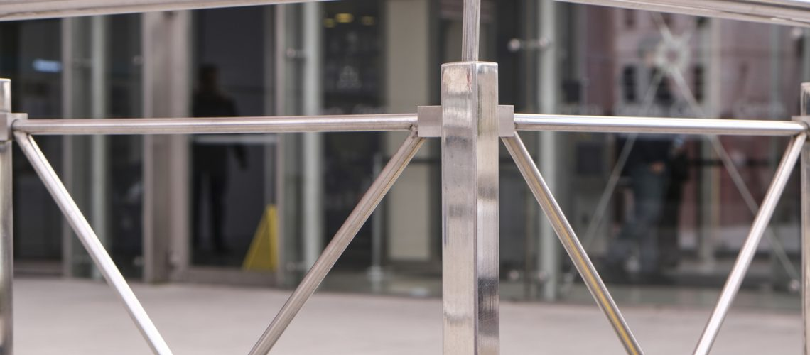 View of Aluminium Stair Railing and Joint Element